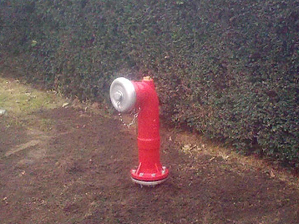 Hydrant für Wasserversorgung bei Brand - Badde Brunnenbau